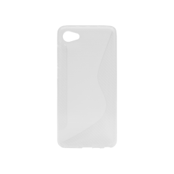 HTC Desire 12 - Gumiran ovitek (TPU) - belo-prosojen CS-Type