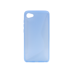 HTC Desire 12 - Gumiran ovitek (TPU) - modro-prosojen CS-Type