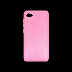 HTC Desire 12 - Gumiran ovitek (TPU) - roza-prosojen CS-Type