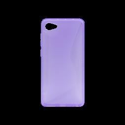HTC Desire 12 - Gumiran ovitek (TPU) - vijolično-prosojen CS-Type