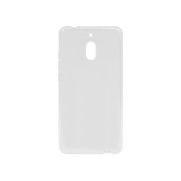 Nokia 2.1 - Gumiran ovitek (TPU) - belo-prosojen svetleč