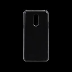 LG Q Stylus - Gumiran ovitek (TPU) - črn svetleč