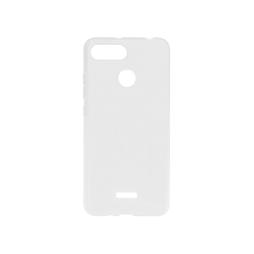 Xiaomi Redmi 6/6A - Gumiran ovitek (TPU) - belo-prosojen svetleč