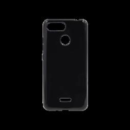 Xiaomi Redmi 6/6A - Gumiran ovitek (TPU) - črn svetleč