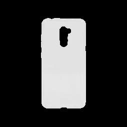Xiaomi Pocophone F1 - Gumiran ovitek (TPU) - belo-prosojen svetleč