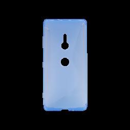 Sonx Xperia XZ3 - Gumiran ovitek (TPU) - modro-prosojen CS-Type