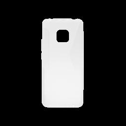 Huawei Mate 20 Pro - Gumiran ovitek (TPU) - belo-prosojen CS-Type
