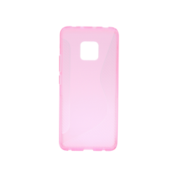 Huawei Mate 20 Pro - Gumiran ovitek (TPU) - roza-prosojen CS-Type