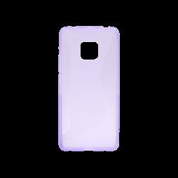 Huawei Mate 20 Pro - Gumiran ovitek (TPU) - vijolično-prosojen CS-Type
