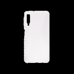 Samsung Galaxy A7 (2018) - Gumiran ovitek (TPU) - belo-prosojen CS-Type