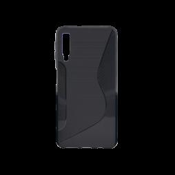 Samsung Galaxy A7 (2018) - Gumiran ovitek (TPU) - črn CS-Type