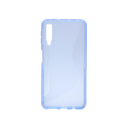 Samsung Galaxy A7 (2018) - Gumiran ovitek (TPU) - modro-prosojen CS-Type