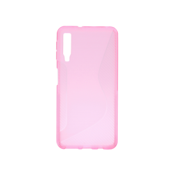 Samsung Galaxy A7 (2018) - Gumiran ovitek (TPU) - roza-prosojen CS-Type