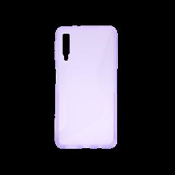 Samsung Galaxy A7 (2018) - Gumiran ovitek (TPU) - vijolično-prosojen CS-Type