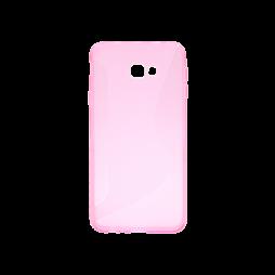 Samsung Galaxy J4+ (2018) - Gumiran ovitek (TPU) - roza-prosojen CS-Type