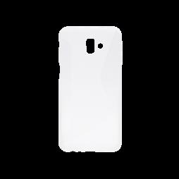 Samsung Galaxy J6+ (2018) - Gumiran ovitek (TPU) - belo-prosojen CS-Type