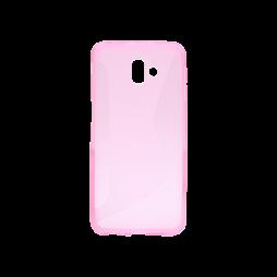 Samsung Galaxy J6+ (2018) - Gumiran ovitek (TPU) - roza-prosojen CS-Type