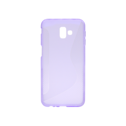 Samsung Galaxy J6+ (2018) - Gumiran ovitek (TPU) - vijolično-prosojen CS-Type