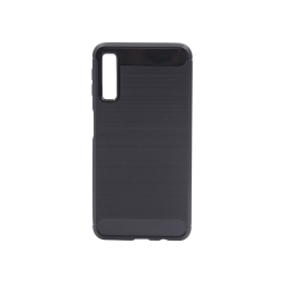 Samsung Galaxy A7 (2018) - Gumiran ovitek (TPU) - črn A-Type