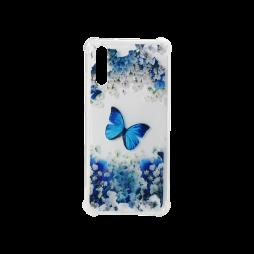 Huawei P20 - Gumiran ovitek (TPUP) - Blue butterfly