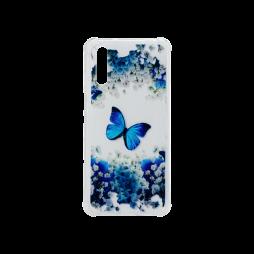 Huawei P20 Pro - Gumiran ovitek (TPUP) - Blue butterfly