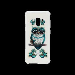 Samsung Galaxy A8 (2018) - Gumiran ovitek (TPUP) - Sleepy owl