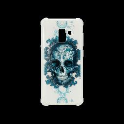 Samsung Galaxy A8 (2018) - Gumiran ovitek (TPUP) - Skull