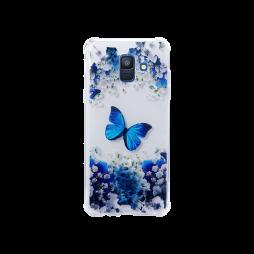 Samsung Galaxy A6 (2018) - Gumiran ovitek (TPUP) - Blue butterfly