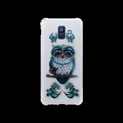Samsung Galaxy A6 (2018) - Gumiran ovitek (TPUP) - Sleepy owl