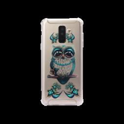 Samsung Galaxy A6+ (2018) - Gumiran ovitek (TPUP) - Sleepy owl