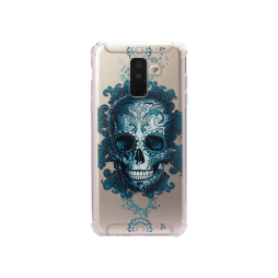 Samsung Galaxy A6+ (2018) - Gumiran ovitek (TPUP) - Skull