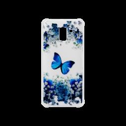 Samsung Galaxy J6 (2018) - Gumiran ovitek (TPUP) - Blue butterfly