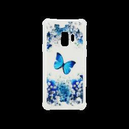 Samsung Galaxy S9 - Gumiran ovitek (TPUP) - Blue butterfly