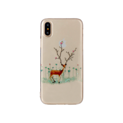 Apple iPhone X/XS - Gumiran ovitek (TPUP) - Deer