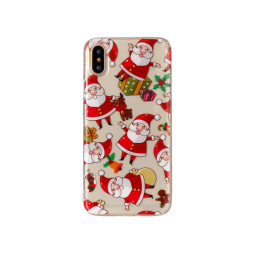 Apple iPhone X/XS - Gumiran ovitek (TPUP) - Santa