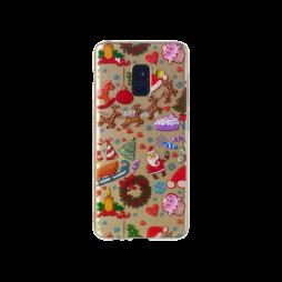 Samsung Galaxy A8 (2018) - Gumiran ovitek (TPUP) - Christmas