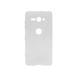 Sony Xperia XZ2 Compact - Gumiran ovitek (TPU) - belo-prosojen CS-Type