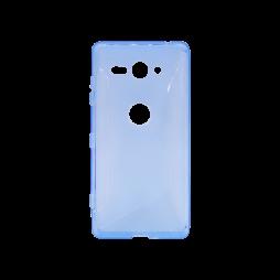 Sony Xperia XZ2 Compact - Gumiran ovitek (TPU) - modro-prosojen CS-Type