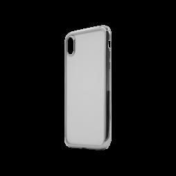 Apple iPhone XR - Gumiran ovitek (TPUE) - rob srebrn