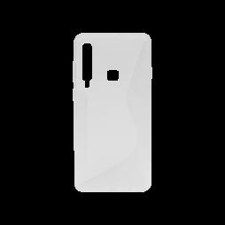 Samsung Galaxy A9 (2018) - Gumiran ovitek (TPU) - belo-prosojen CS-Type
