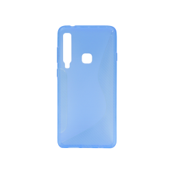 Samsung Galaxy A9 (2018) - Gumiran ovitek (TPU) - modro-prosojen CS-Type
