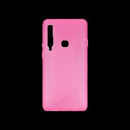 Samsung Galaxy A9 (2018) - Gumiran ovitek (TPU) - roza-prosojen CS-Type