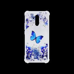 Huawei Mate 20 Lite - Gumiran ovitek (TPUP) - Blue butterfly