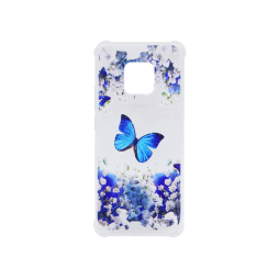 Huawei Mate 20 Pro - Gumiran ovitek (TPUP) - Blue butterfly