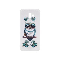 Samsung Galaxy J6+ (2018) - Gumiran ovitek (TPUP) - Sleepy owl