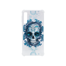 Samsung Galaxy A7 (2018) - Gumiran ovitek (TPUP) - Skull