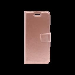 Huawei P30 - Preklopna torbica (WLC) - roza-zlata