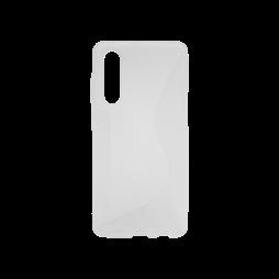 Huawei P30 - Gumiran ovitek (TPU) - belo-prosojen CS-Type