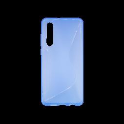 Huawei P30 - Gumiran ovitek (TPU) - modro-prosojen CS-Type