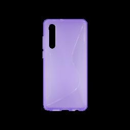Huawei P30 - Gumiran ovitek (TPU) - vijolično-prosojen CS-Type